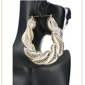 Jewelry - Oversized Bamboo Twist Earrings